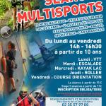 Stage multisports : période estivale 2013