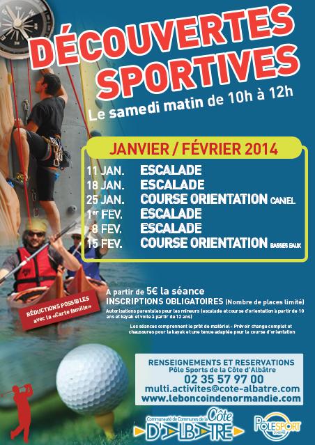 Affiche Découv Sportive Janv-Fev 2014