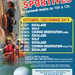 Découvertes Sportives – Octobre / Décembre 2013