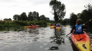 Descante kayak durdent - groupe de dos