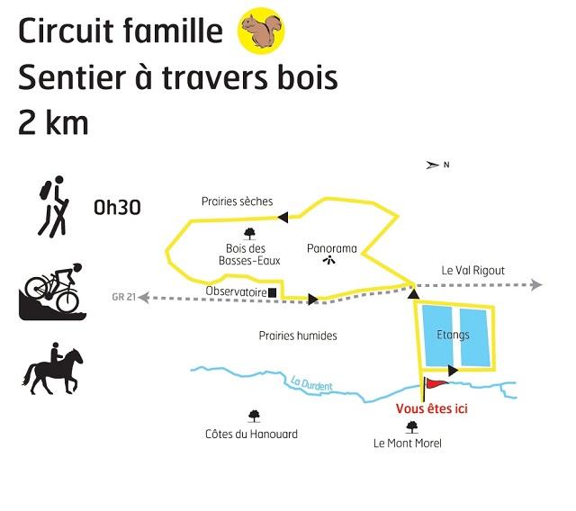 boucle A Travers Bois - carte
