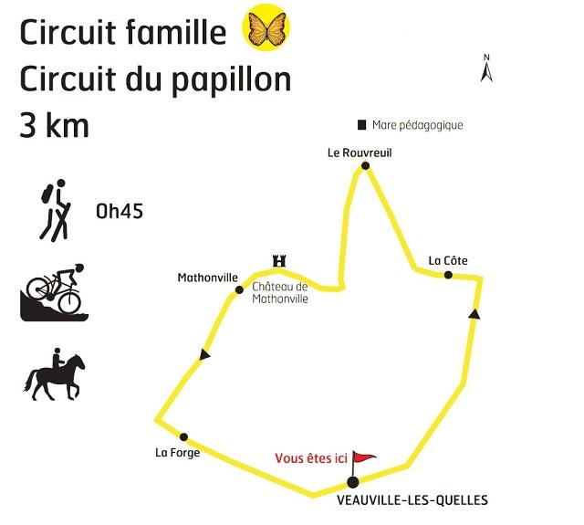boucle Papillon - carte