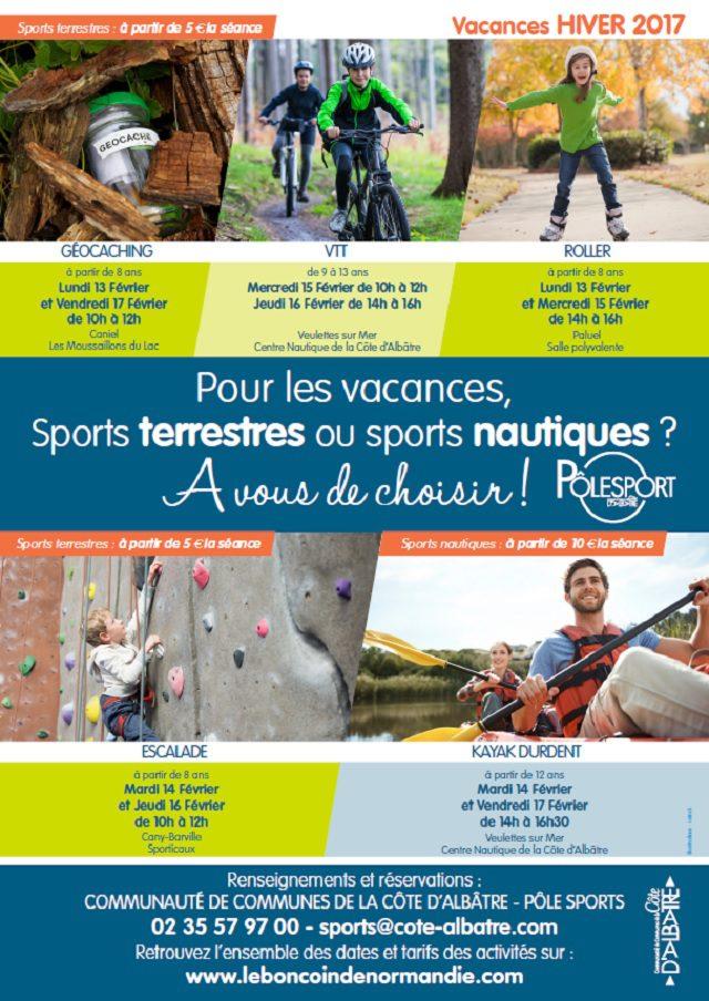 Affiche Sport - Vacances HIVER 2017