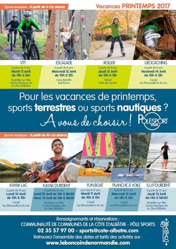 Affiche Sport - Vacances PRINTEMPS 2017