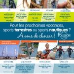Les activités proposées pendant les vacances d'automne 2018